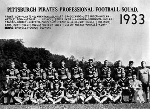 Pittsburgh Pirates Professional Football Squad 1933